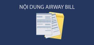 vận đơn hàng không AWB
